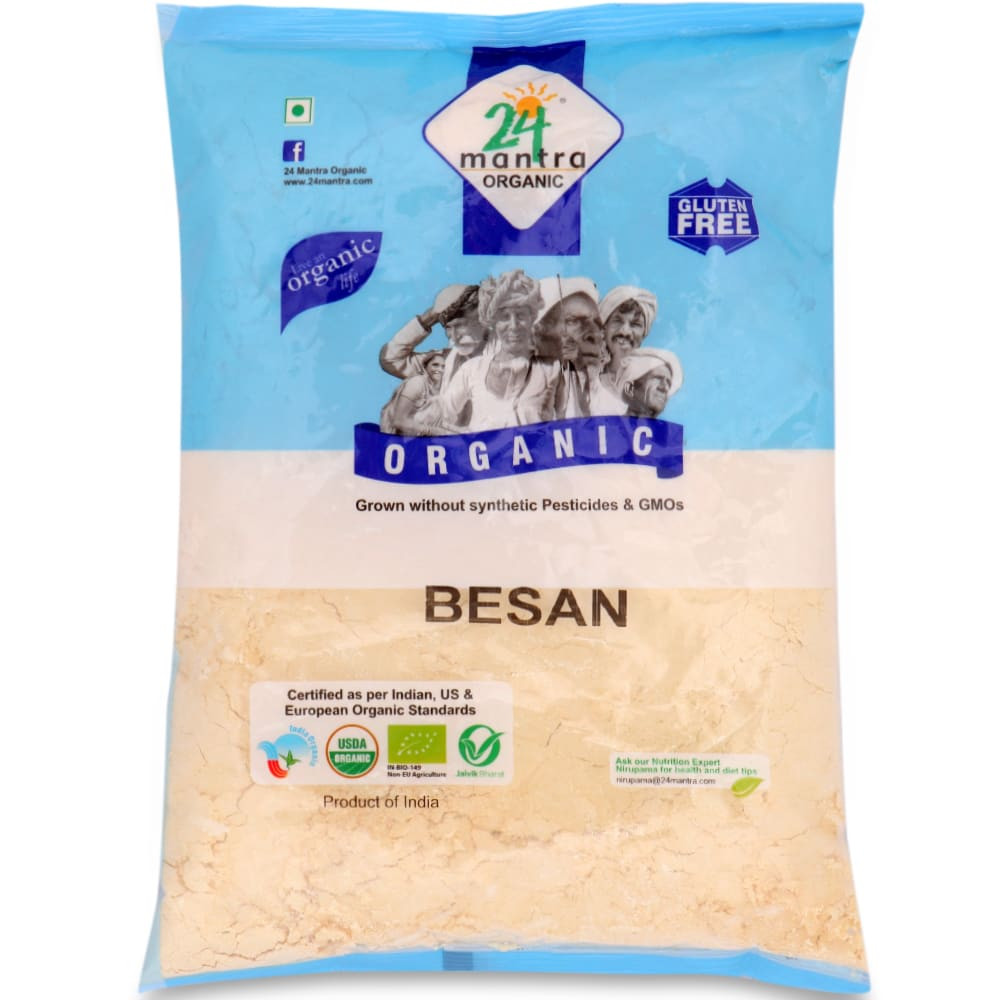 24 Mantra Organic Besan Flour 500G