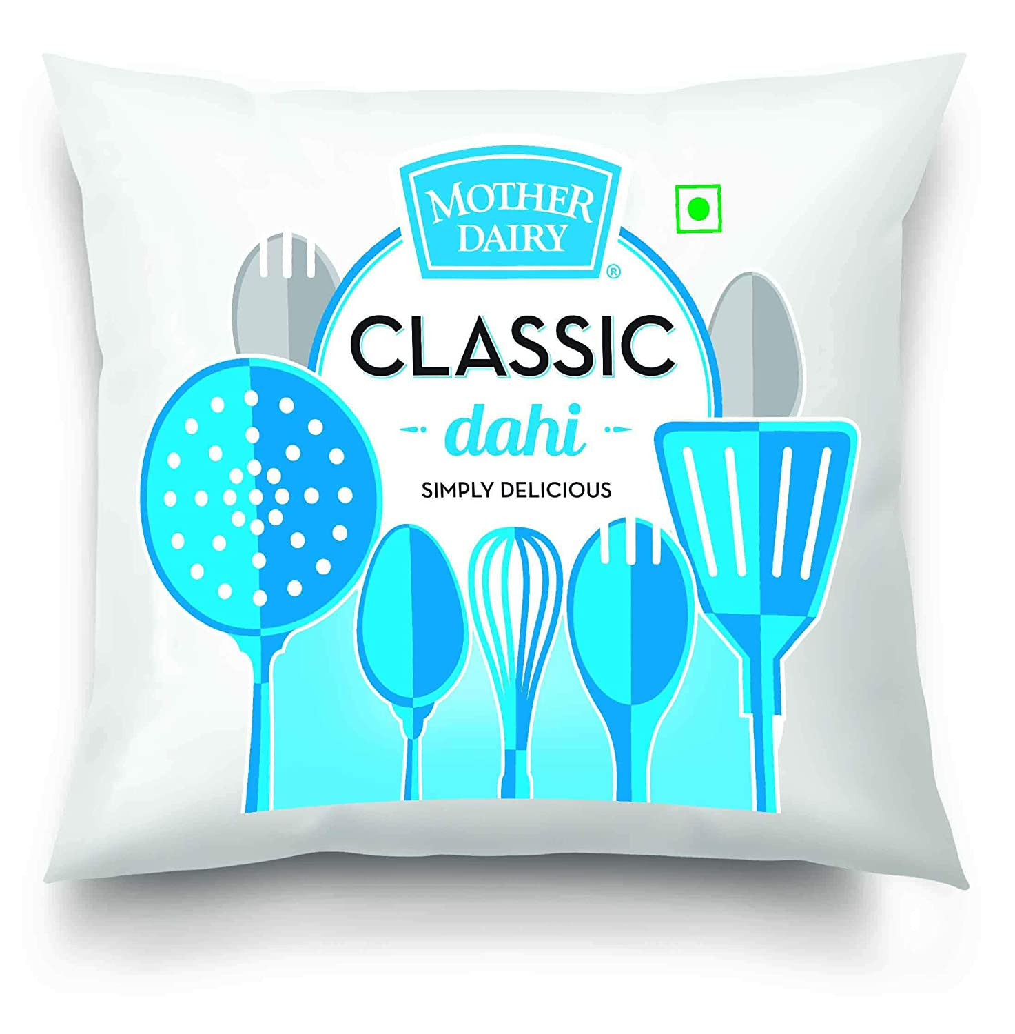 Mother Dairy Poly Pouch Curd 400G