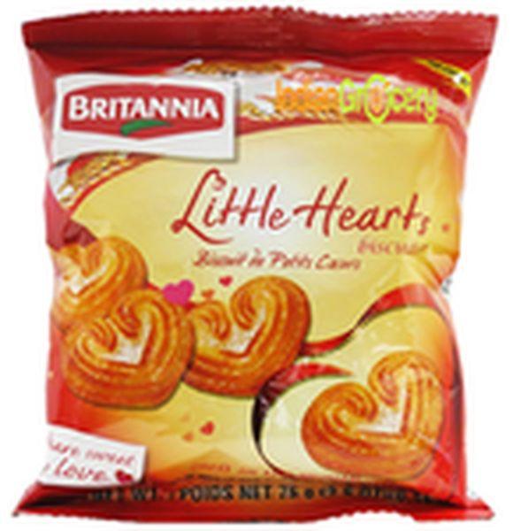 Britannia Little Heart Biscuits 75G