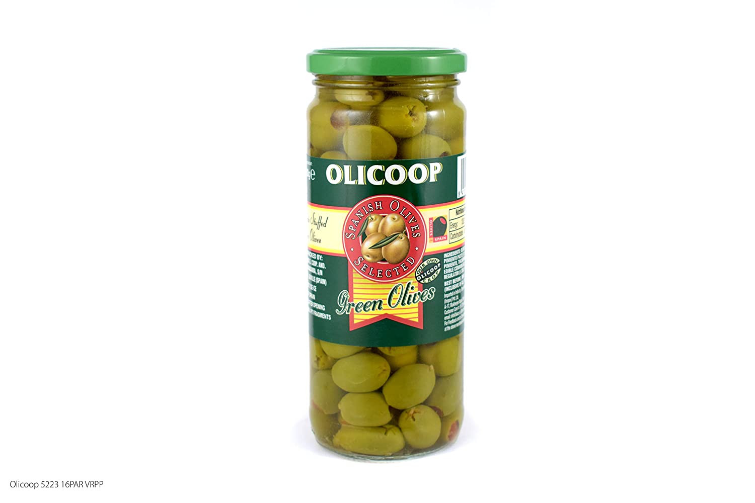 Olicoop Green Whole Olives 450G