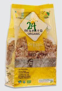 24 Mantra Organic Red Poha 500G