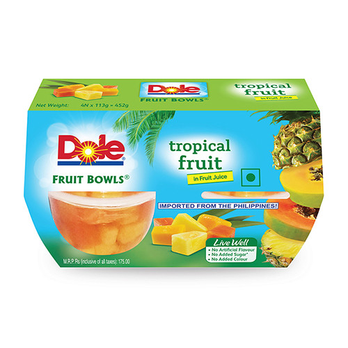 Dole Diced Tropical Fruit Pack Of 4