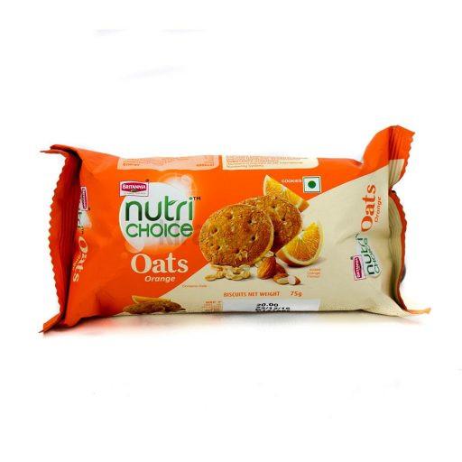 Brittania Nutri Choice Oats Orange Biscuits 75G