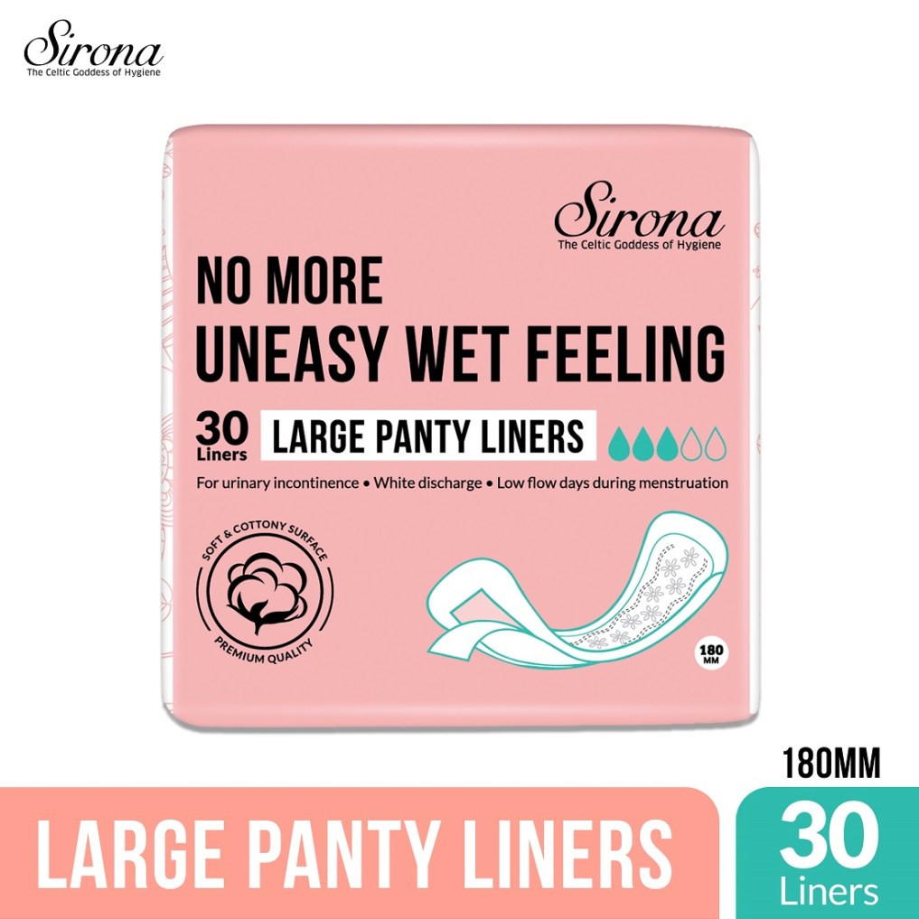 Ultra Thin Panty Liners By Sirona - L - Pk of 30