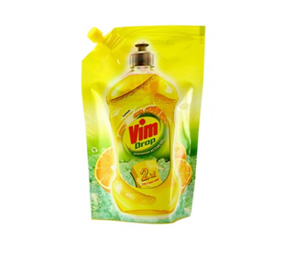 Vim Drop Dish Wash Active Gel Lemon 500Ml