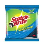 """Scotch Brite Antibacterial Scrub Pad  2.75""""x4"""" (3P)"""