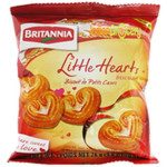 Britannia Little Heart Biscuits 75G