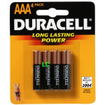 Duracell Aaa Pack Of 4 Battery